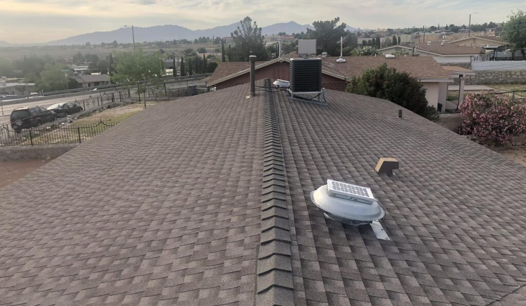 A residential roof installed by Smith & Ramirez Roofing